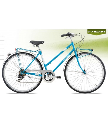BICI FRERA CITY BIKE SPARK 7 SPEED DONNA TOURNEY 7V RIGIDA V-BRAKE MISURE DONNA 45